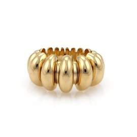 Bulgari Celtica 18K Yellow Gold Fancy Cuff Band Ring Size 6
