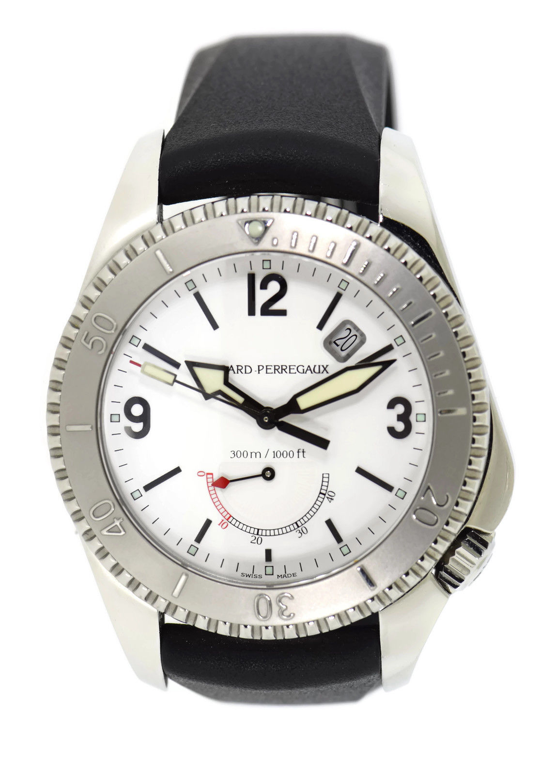 "Image of ""Girard Perregaux Sea Hawk II 4990 Stainless Steel & Rubber Automatic"""