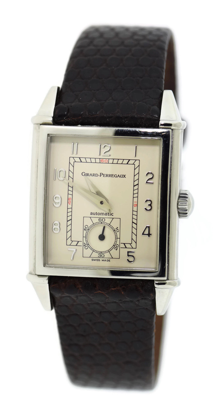 "Image of ""Girard Perregaux 2593 Stainless Steel & Leather Automatic 28mm Unisex"""