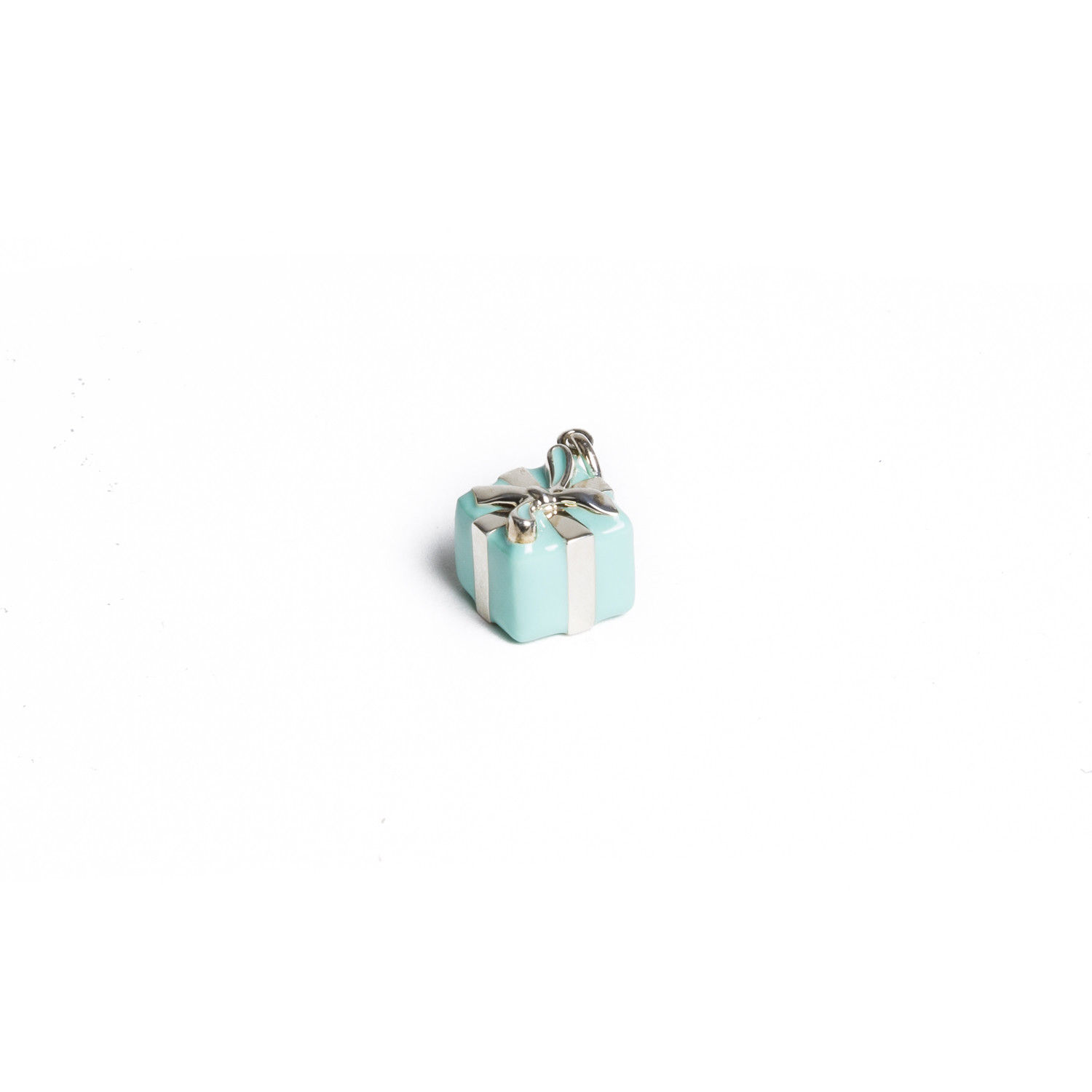 "Image of ""Tiffany & Co. Sterling Silver Blue Box Charm Pendant"""