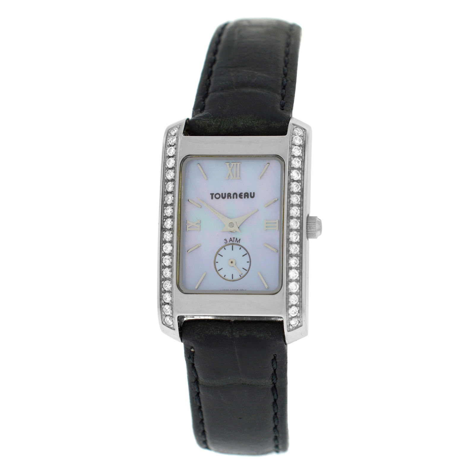 "Image of ""Tourneau 1064 Stainless Steel with Diamond Quartz 20mm Womens Watch"""