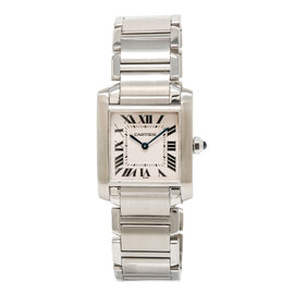 Cartier Tank Francaise 2301 Stainless Steel with Cream Dial 25mm Womens Watch
