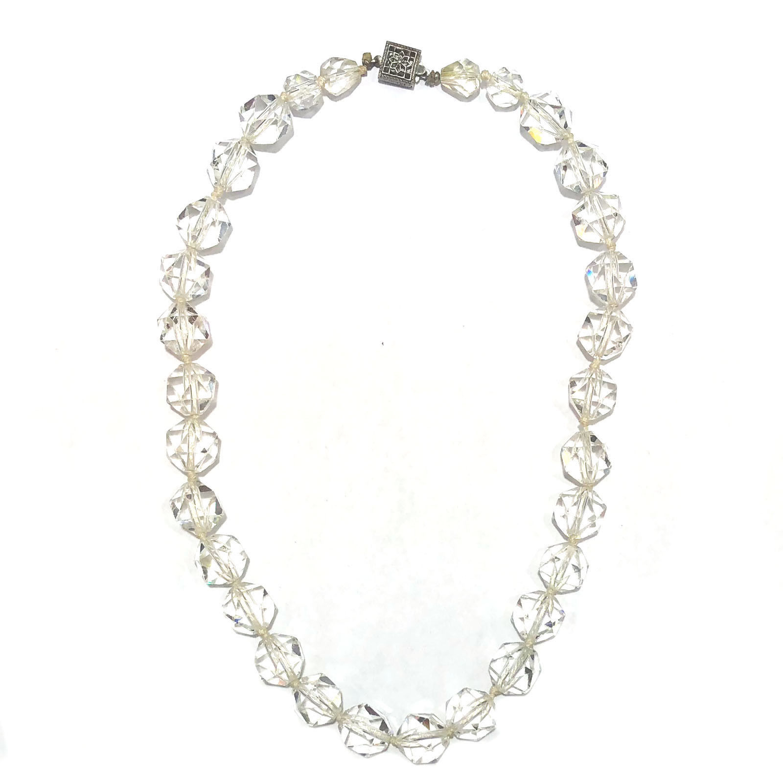 """Image of """"Joan Rivers 925 Sterling Silver & Clear Faceted Crystals Chunky"""""""