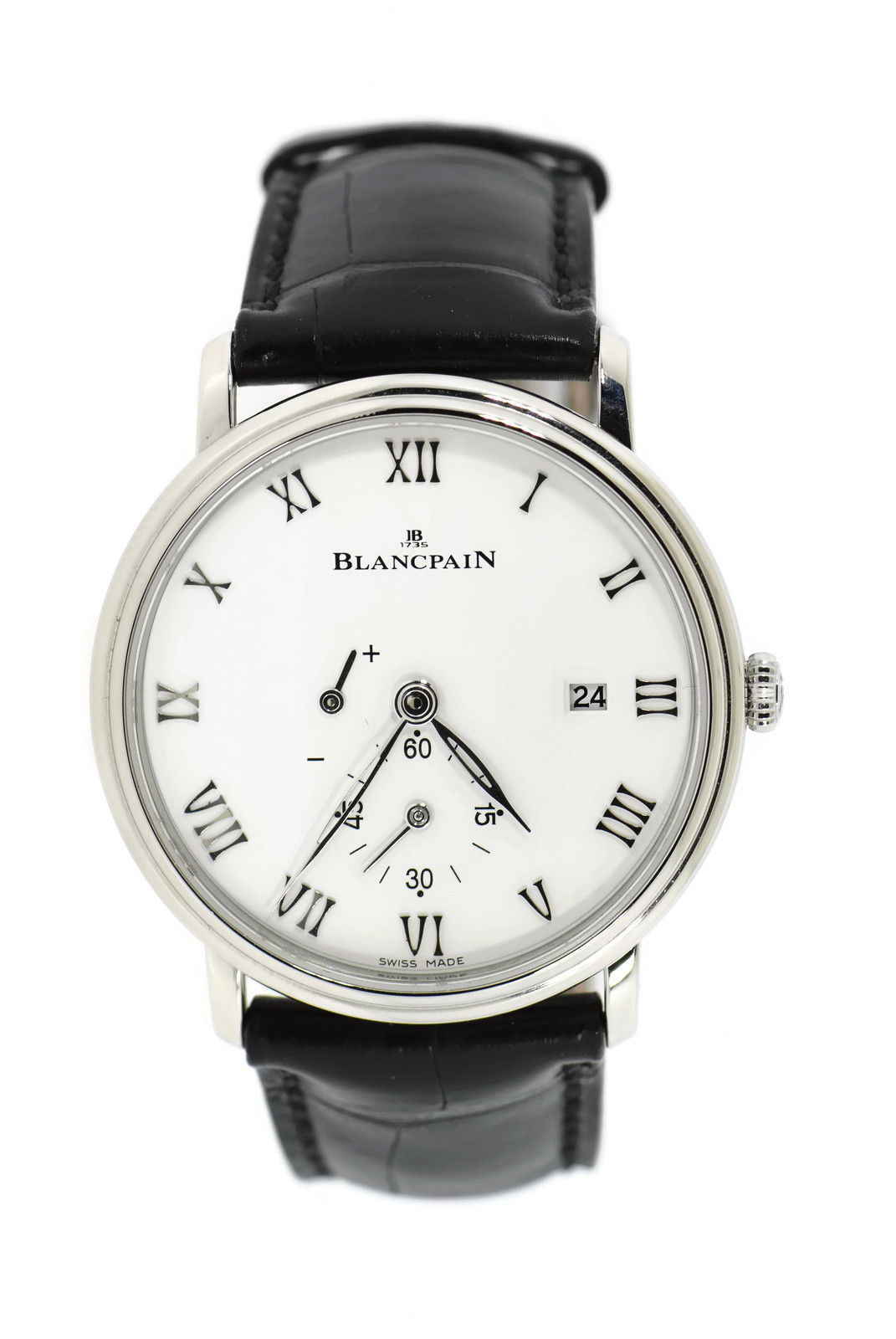 """Image of """"Blancpain Villeret 6606 Stainless Steel & Leather Manual 40mm Mens"""""""