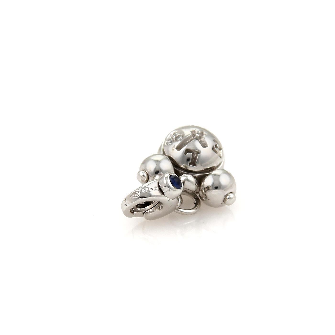 """""Pasquale Bruni 18K White Gold with Diamond & Sapphire Charm Pendant"""""" 2174326"