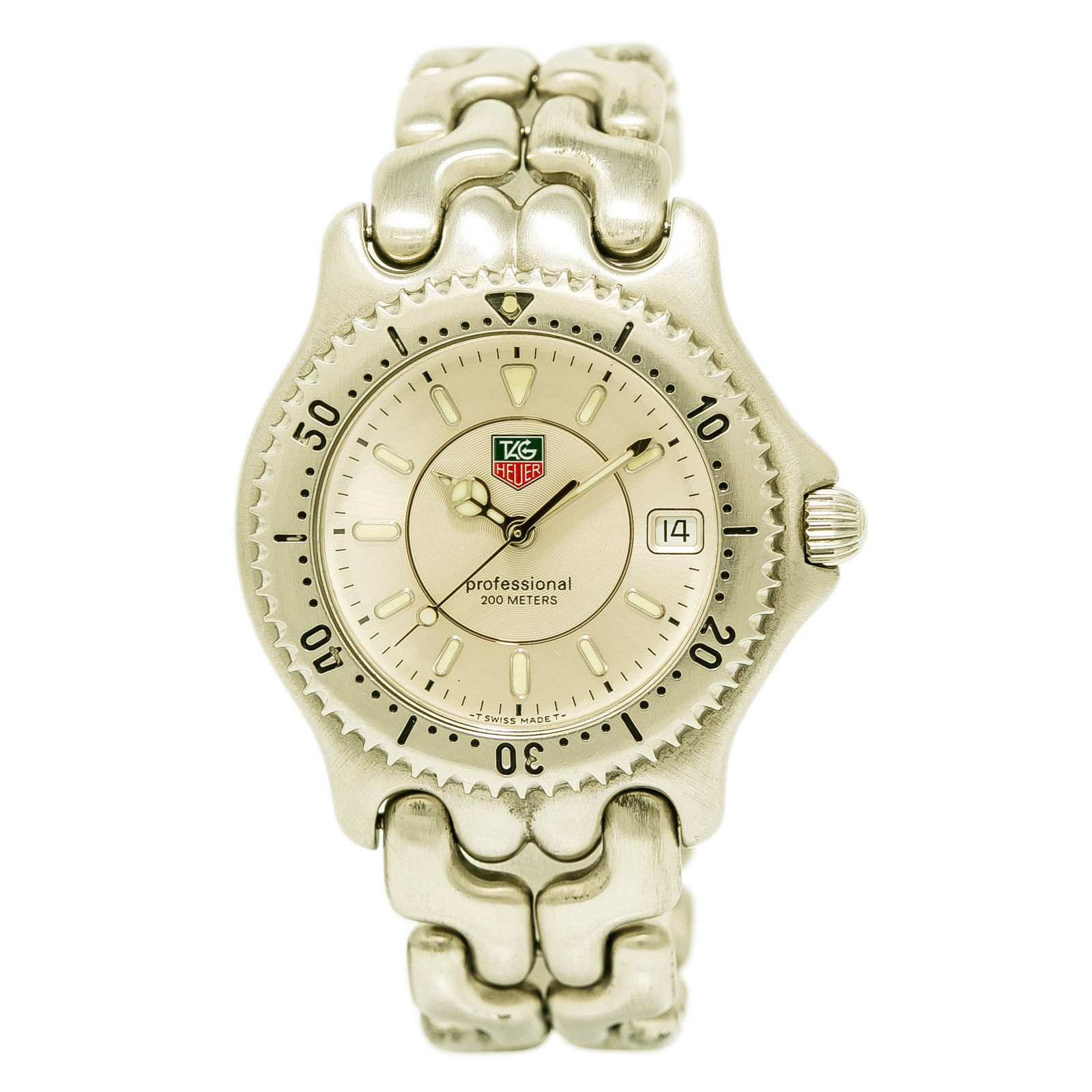 """Image of """"Tag Heuer Professional Wg111B Stainless Steel 37mm Mens Watch"""""""