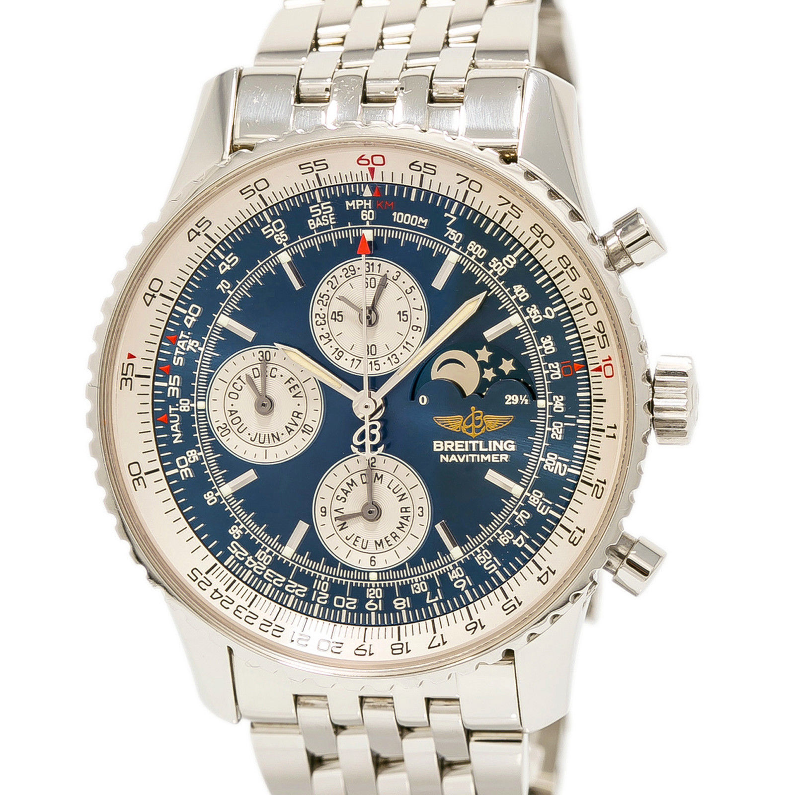 """Image of """"Breitling Navitimer Olympus A19340 Stainless Steel 43mm Mens Watch"""""""