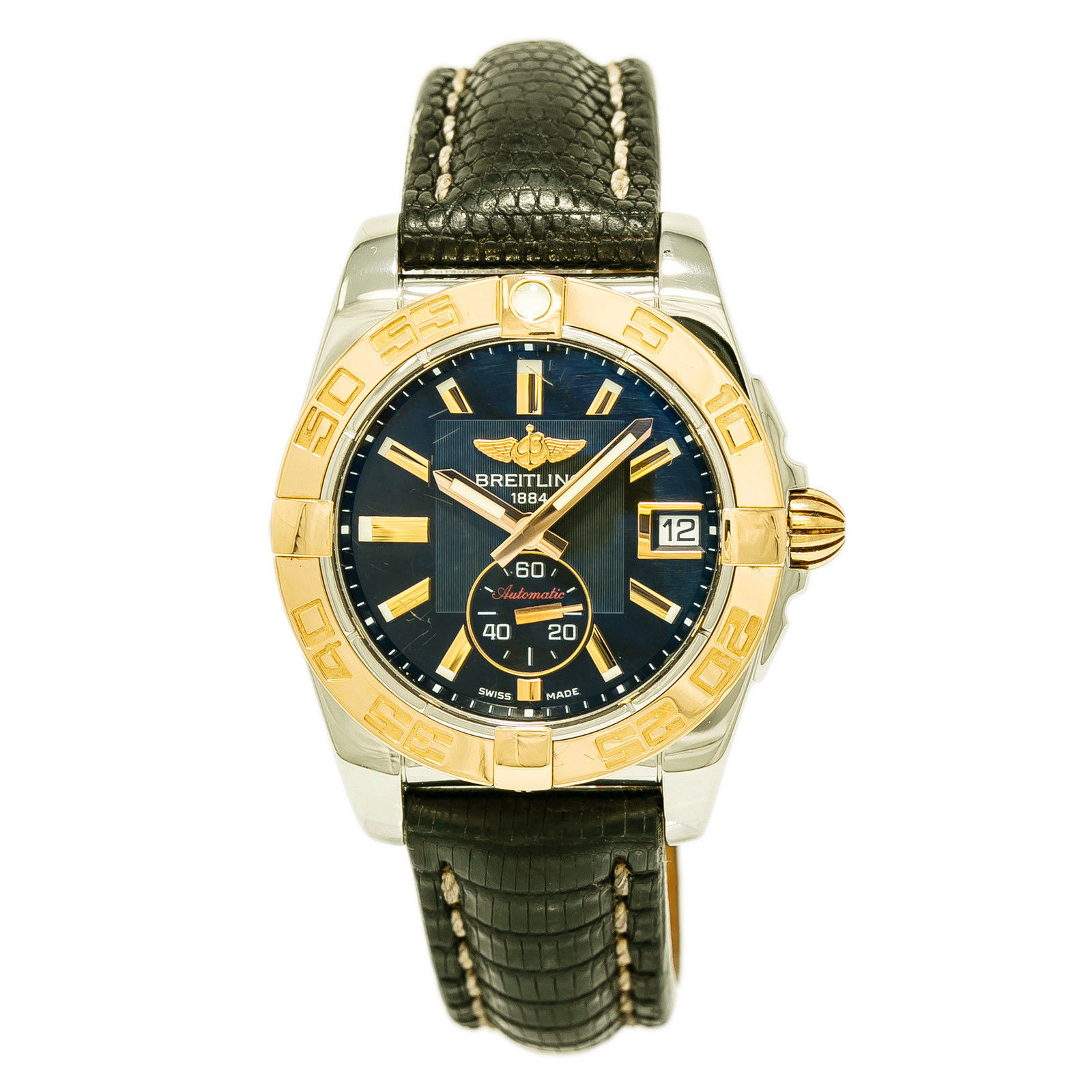 """Image of """"Breitling Galactic C37330 Stainless Steel / 18K Rose Gold & Leather"""""""