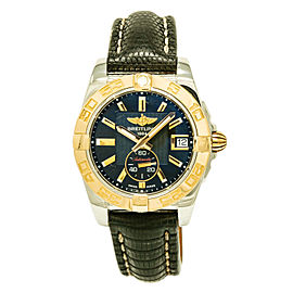 Breitling Galactic C37330 Stainless Steel / 18K Rose Gold & Leather 36mm Unisex Watch