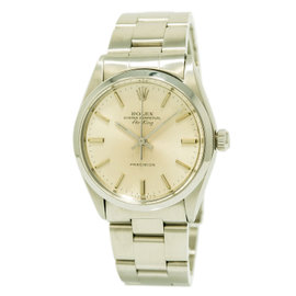 Rolex Oyster Perpetual Air King 5500 Stainless Steel Automatic Vintage 34mm Mens Watch