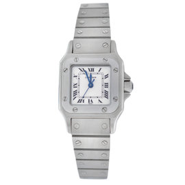 Cartier Santos Galbee Stainless Steel Automatic 23mm Womens