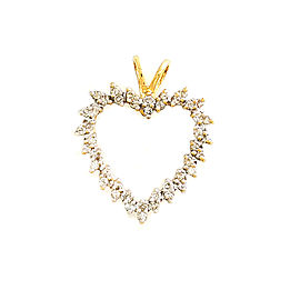 14K Yellow Gold with 0.40ct Diamond Heart Pendant