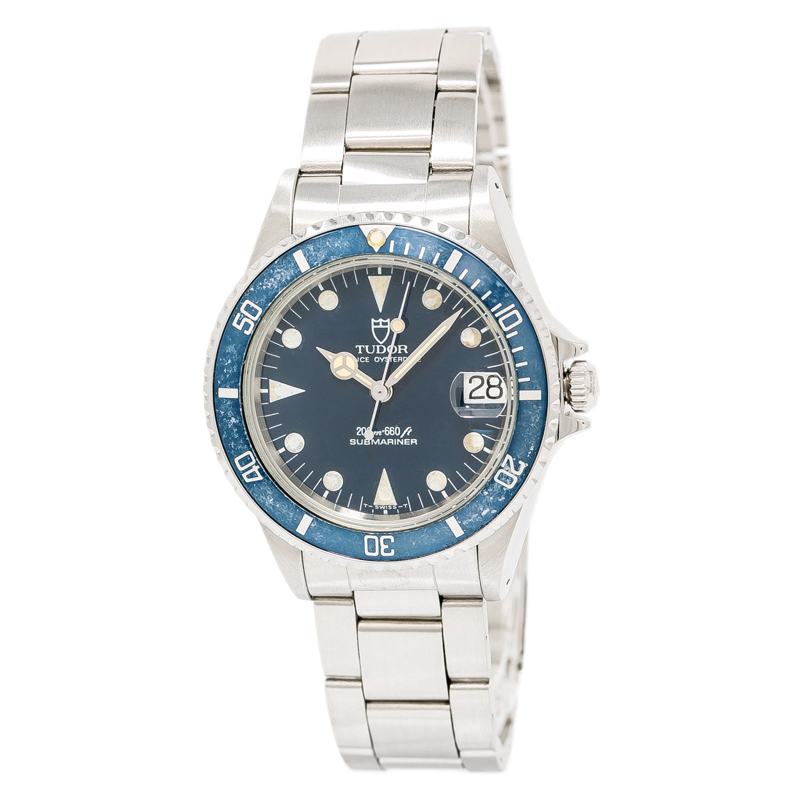 """Image of """"Tudor Submariner 75090 Stainless Steel Blue Dial Automatic 36mm Mens"""""""