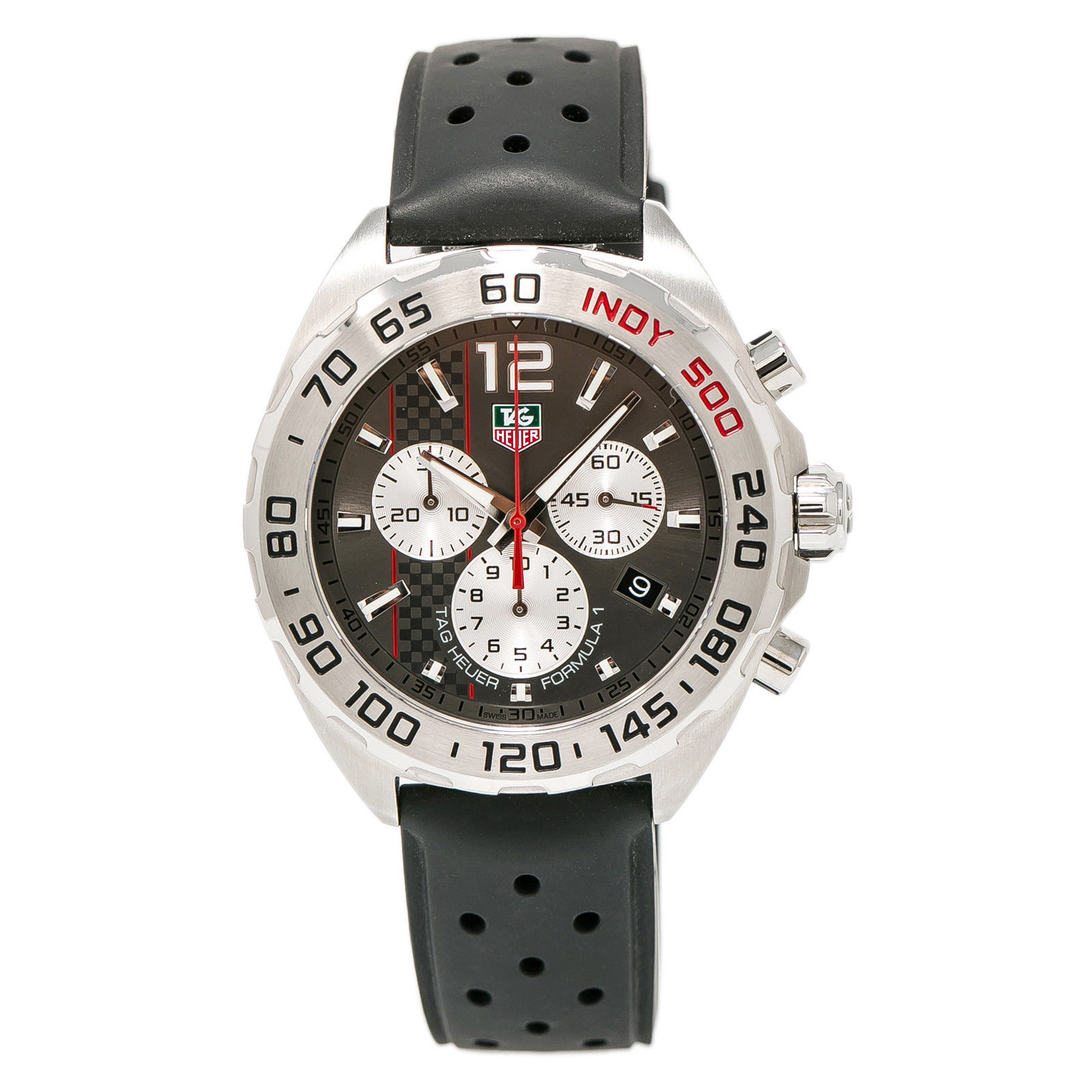 """Image of """"Tag Heuer Formula 1 Indy CAZ 1114 Stainless Steel & Rubber Gray Dial"""""""