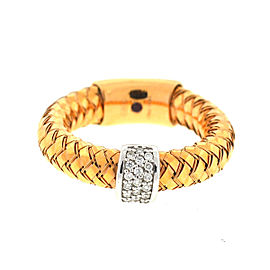 Roberto Coin Primavera 18K Rose Gold 0.10ct. Diamonds Flexible Ring Size 6