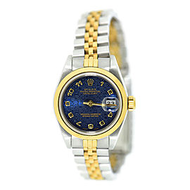 Rolex Datejust 69163 18K Yellow Gold/Stainless Steel Blue Dial 26mm Womens Anniversary Watch