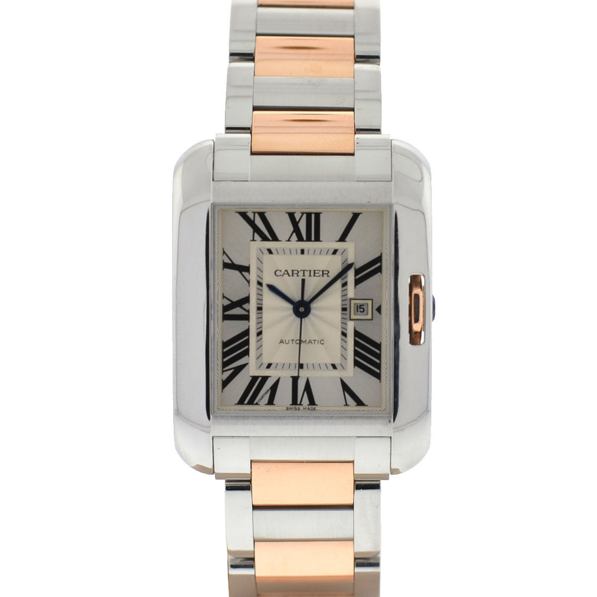 """Image of """"Cartier Anglaise 3511 Stainless Steel / 18K Rose Gold Automatic 30mm"""""""