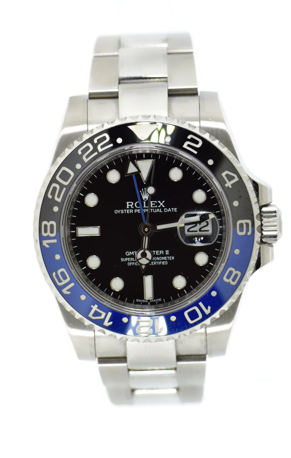 "Image of ""Rolex GMT-Master II Batman 116710 Blnr Stainless Steel Automatic 40mm"""