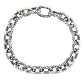 David Yurman 925 Sterling Silver Cable Classic Oval Link Bracelet