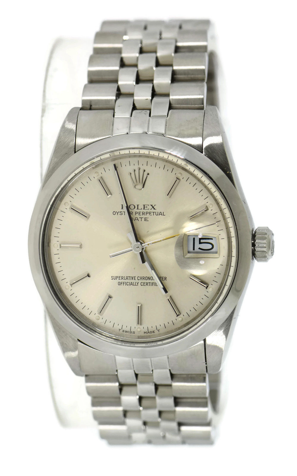"Image of ""Rolex Oyster Perpetual Date 15000 Stainless Steel Automatic 34mm"""