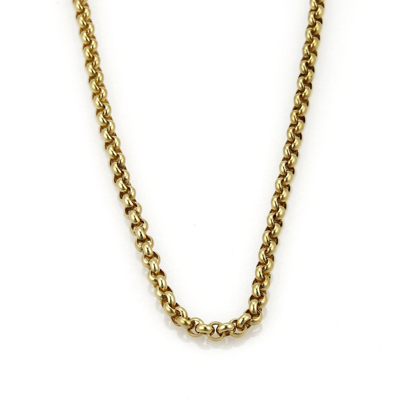 """Image of """"Chopard 18K Yellow Gold Sturdy Round Link Chain Necklace"""""""