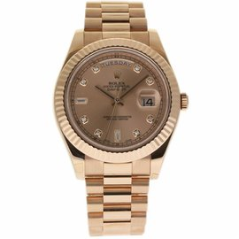 Rolex Day-Date II 218235 18K Rose Gold with Diamond Automatic 41mm Mens Watch