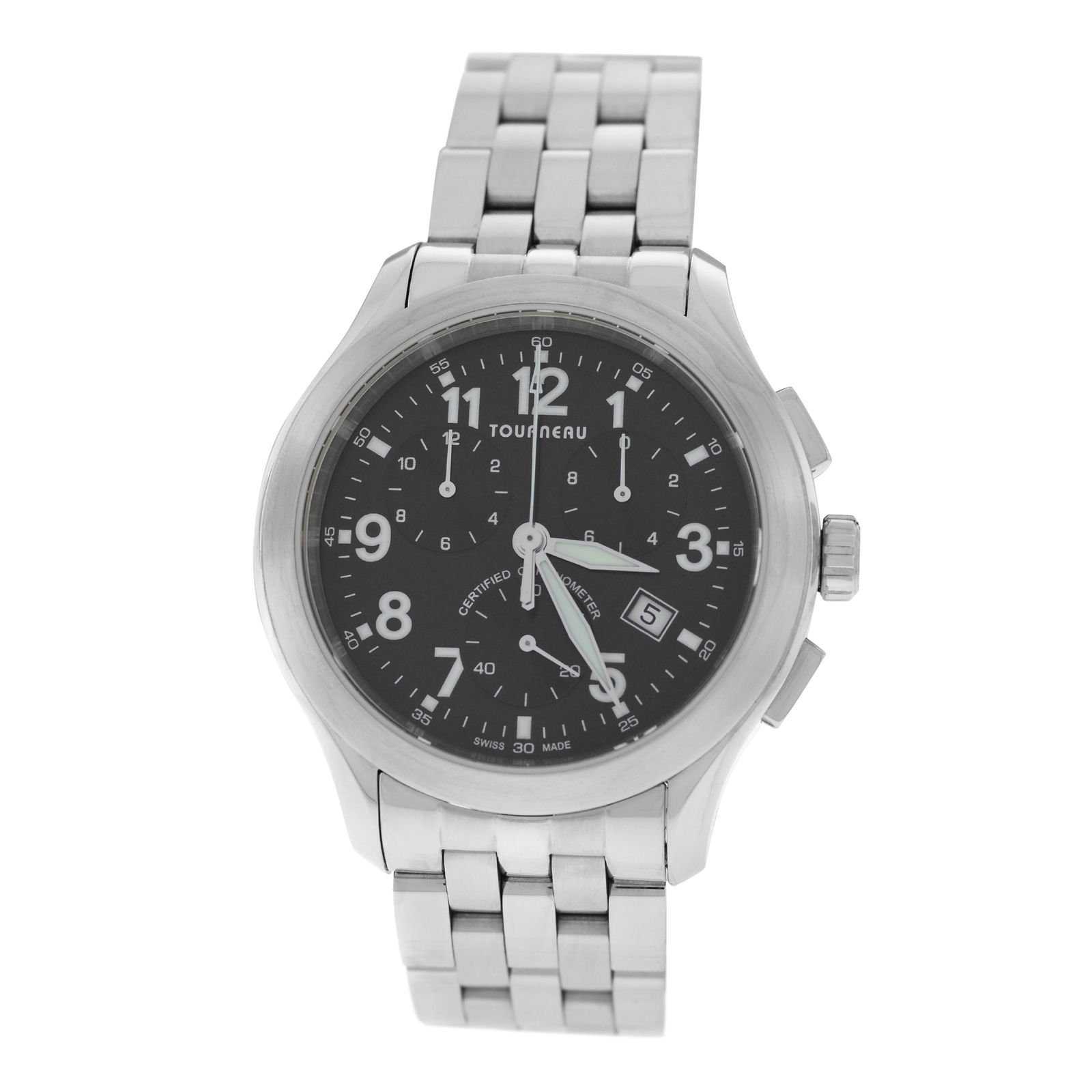 "Image of ""Tourneau Sportgraph Stainless Steel Quartz 42mm Mens Watch"""