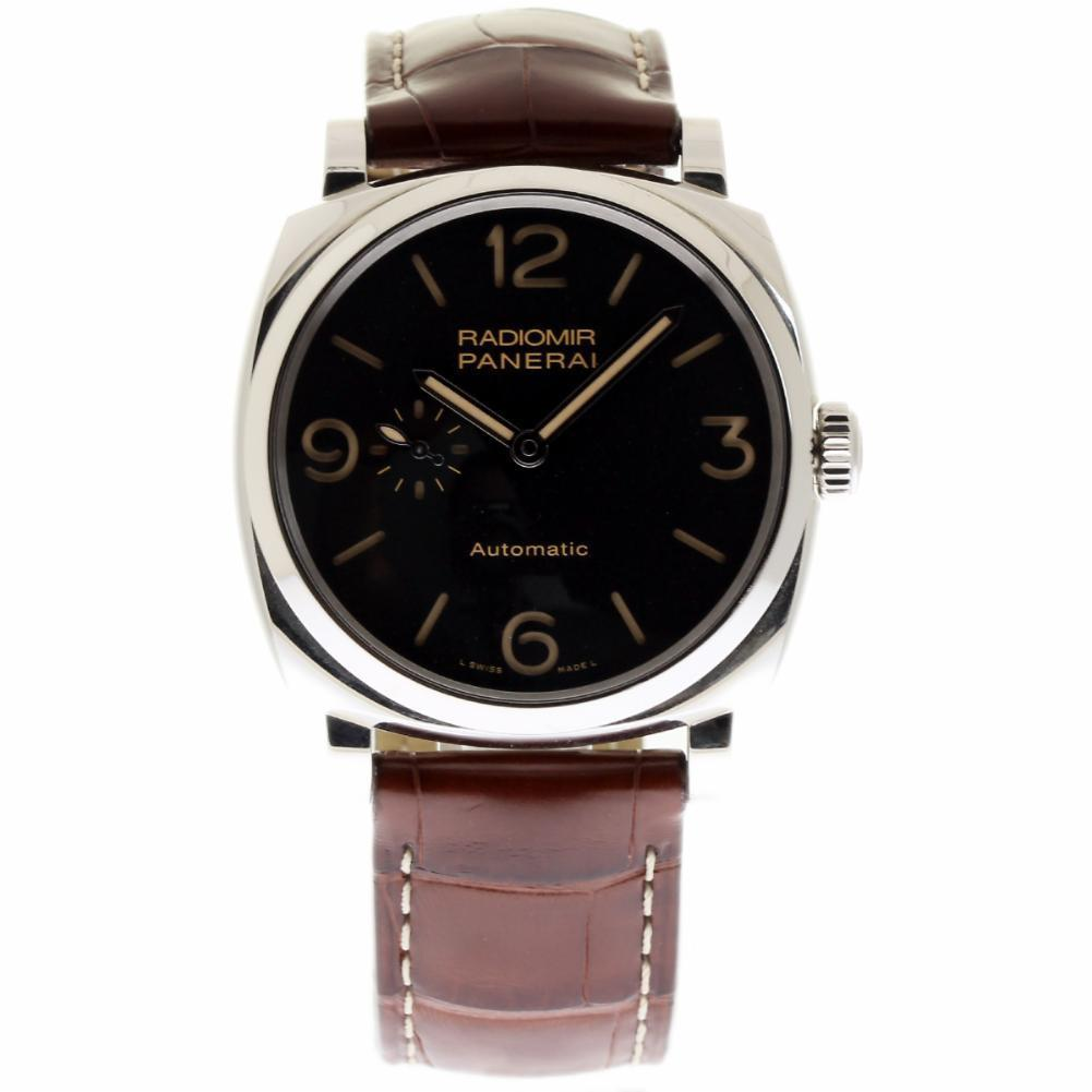 """Image of """"Panerai Radiomir Pam00572 Stainless Steel & Leather 45mm Mens Watch"""""""