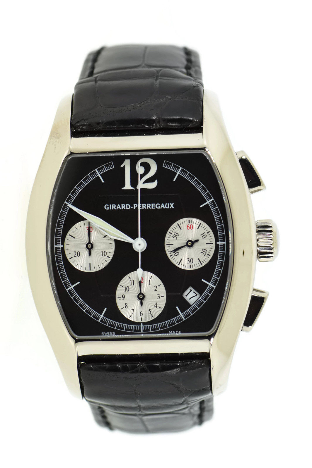 "Image of ""Girard Perregaux Richeville 2765 18K White Gold & Leather Automatic"""