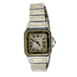 Cartier Santos 2423 18K Yellow Gold & Stainless Steel Automatic 24mm Womens Watch
