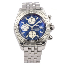 Breitling Chronomat Evolution A13356 Stainless Steel with Blue Dial Automatic 44mm Mens Watch