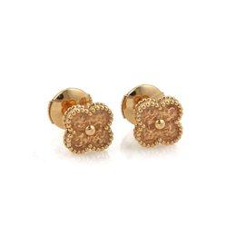 Van Cleef & Arpels Sweet Alhambra 18K Rose Gold Studs Earrings