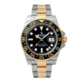 Rolex GMT Master II 116713LN 18K Yellow Gold and Stainless Steel Mens Watch