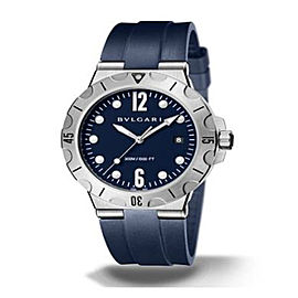 Bulgari Diagono Scuba Automatic Date Blue Mens Watch DG42C9SMCVDCH