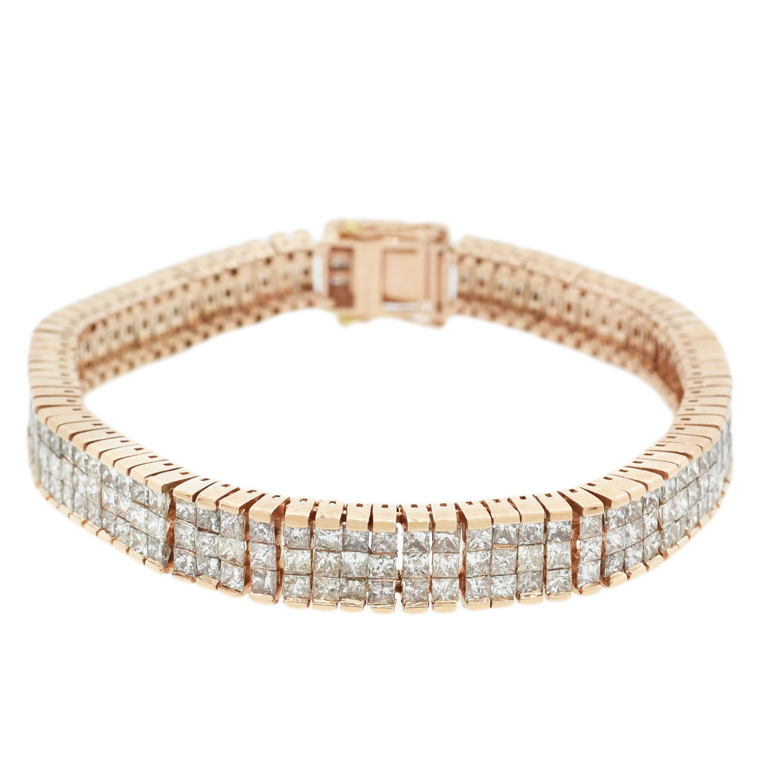 "Image of ""14Kt Rose Gold Diamond tennis bracelet"""