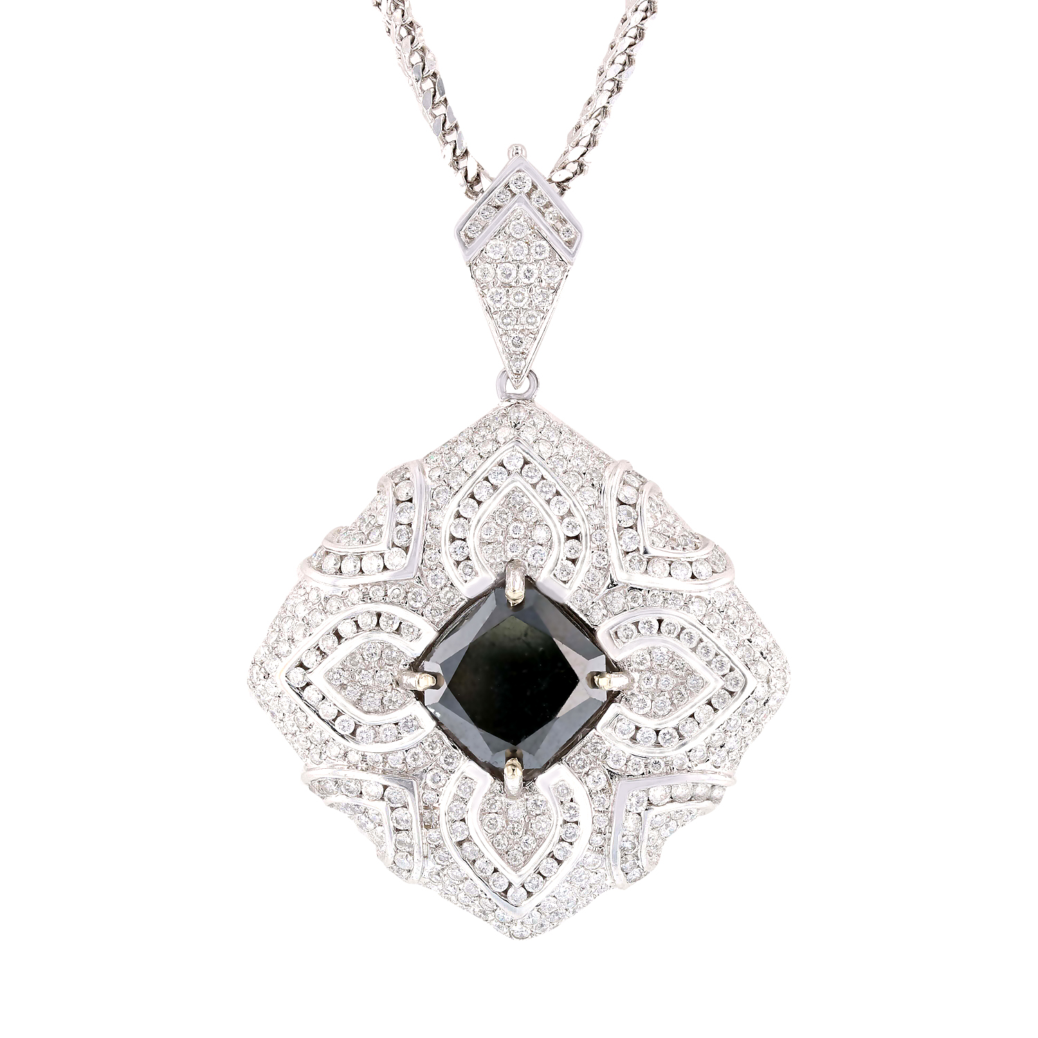 "Image of ""14Kt White Gold Diamond Enhancer with Chain"""