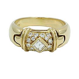 Bulgari 18K Yellow Gold with Diamond Ring Size 6