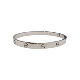 Cartier 18K White Gold Love Bracelet Size 20