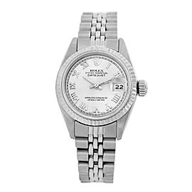 Rolex Datejust 6917 Stainless Steel & White Roman Numeral Dial 26mm Womens Watch