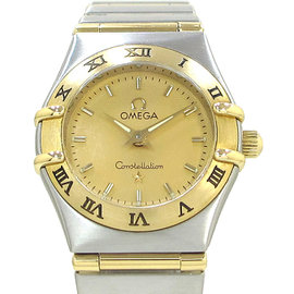 Omega Constellation Stainless Steel And Yellow Gold 22mm Womens Watch