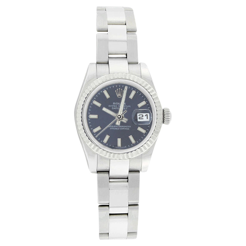 """Image of """"Rolex Datejust Oyster 179174 Stainless Steel 18K Gold Bezel Blue"""""""