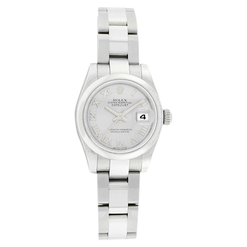 """Image of """"Rolex Datejust 179160 Oyster Stainless Steel Silver Roman Dial Womens"""""""