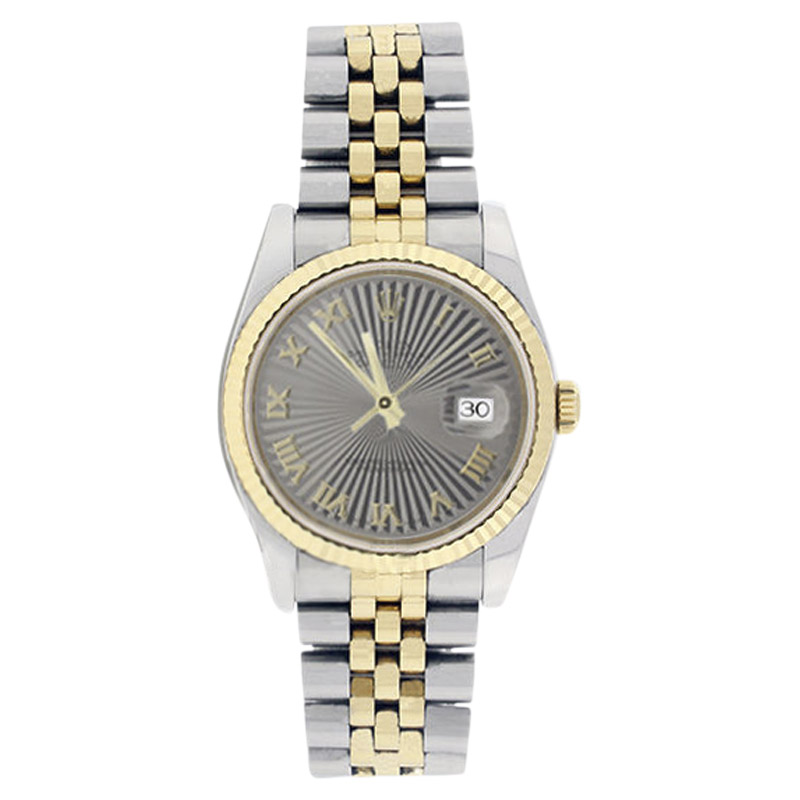 "Image of ""Rolex Datejust 116233 Stainless Steel & 18K Gold Silver Sunburst Roman"""