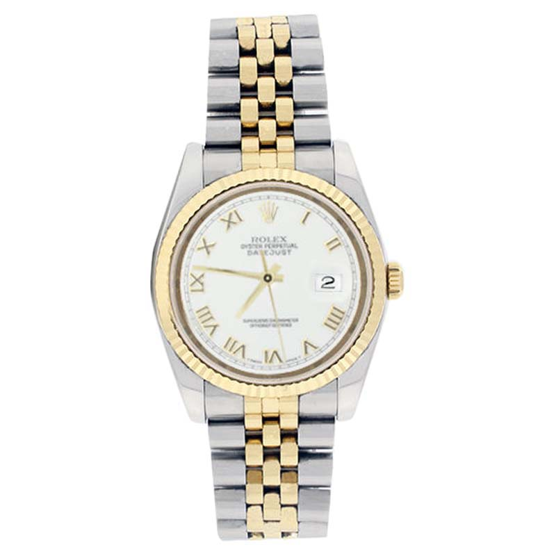"Image of ""Rolex Datejust 116233 Stainless Steel & 18K Yellow Gold White Roman"""