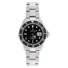 Rolex Submariner 16610 Stainless Steel Black Dial Black Bezel Watch