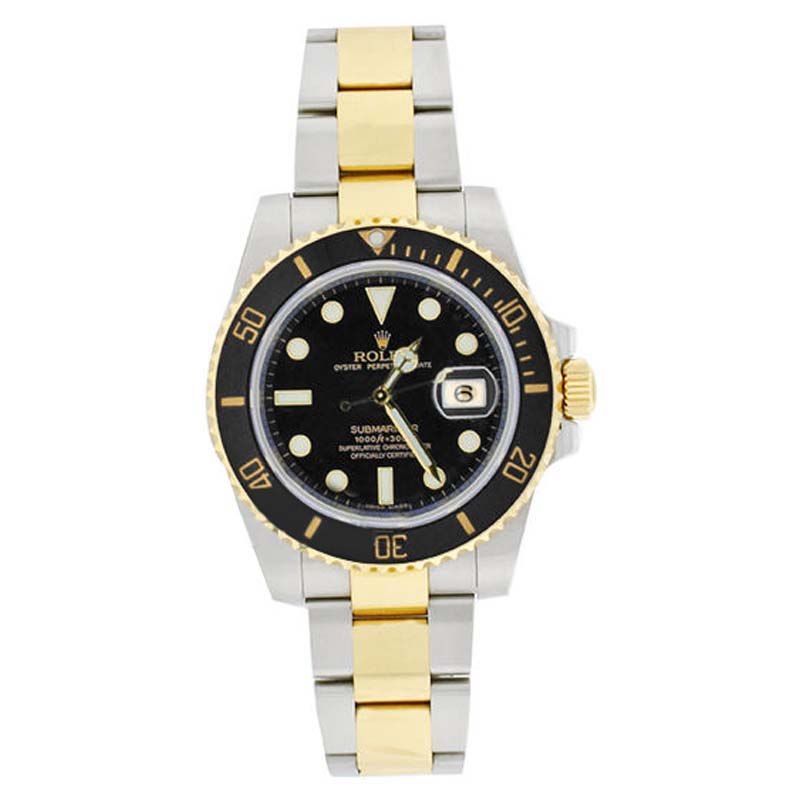 """Image of """"Rolex Submariner 116613 Stainless Steel & 18K Gold Black Dial Mens"""""""