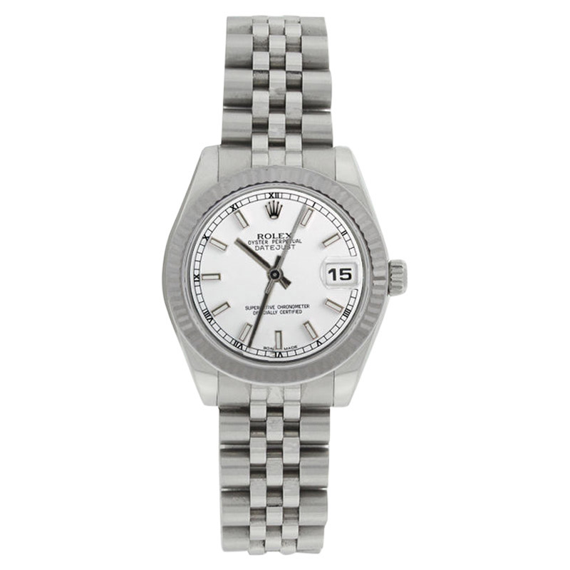 """Image of """"Rolex Datejust Jubilee 178274 Stainless Steel White Stick Dial Midsize"""""""