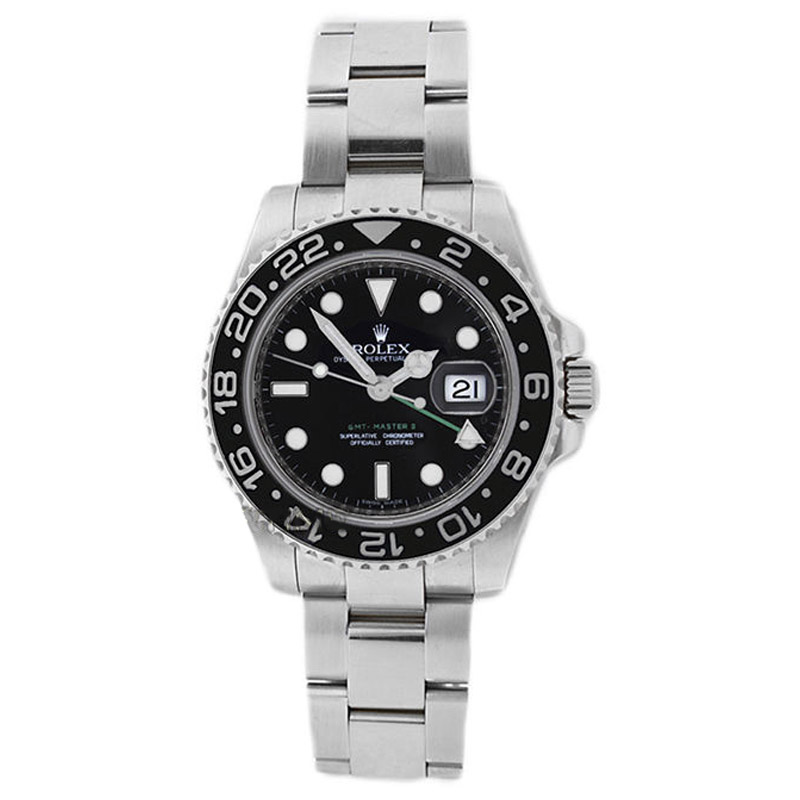 """Image of """"Rolex 116710 GMT Master ll Stainless Steel Black Dial Mens Watch"""""""