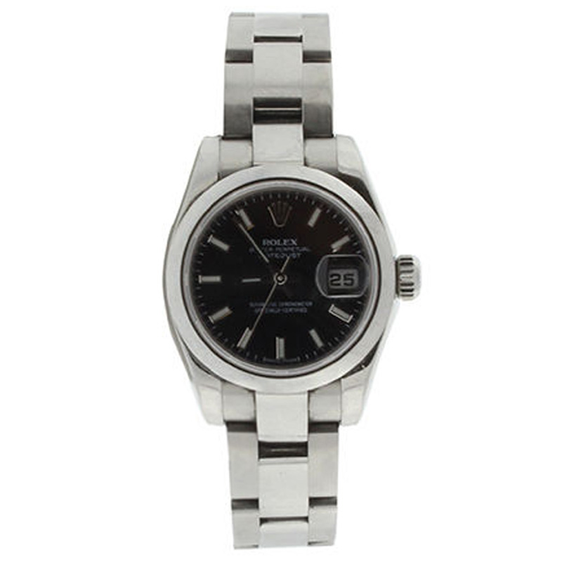 """Image of """"Rolex Datejust 179160 Stainless Steel Oyster Black Stick Dial Smooth"""""""