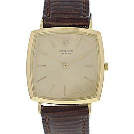 Rolex 18K Cushion Shaped Manual Vintage Watch Circa 1960's